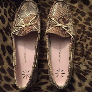 Issac Mizrahi  Snake skin Loafers